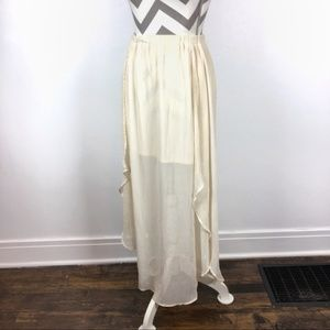 Xhilaration | White boho semi sheer skirt | Small